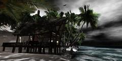 Monsoon (Carla Putnam) Tags: ocean sea beach water weather island stormy sl secondlife monsoon tropical