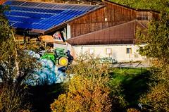 Good morning my sun (eagle1effi) Tags: morning sun john cow milk farm farming deere waldhausen