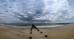 Clouds Over The Ocean (Vitaliy973) Tags: ocean panorama ny beach brooklyn clouds nikon brighton atlantic send brightonbeach atlanticocean dx d7000