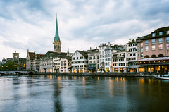 Zurich at Dusk (Tony__K) Tags: leica mp summicron summicron35 35cron 35mm kodak ektar film iso100 ishootfilm zurich switzerland travel