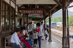 Pink SL at Wakasa Railway (2) (double-h) Tags: tottori  eos6d ef2470mmf4lisusm  wakasarailway  wakasastation