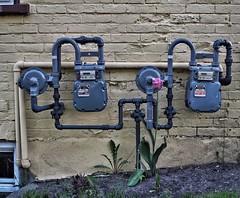 Gas Meters 2 (Richard Pilon) Tags: city canada cornwall olympus gasmeter gasmeters