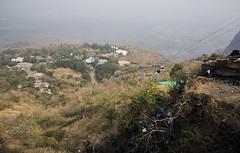 going down (Tin-Tin Azure) Tags: world india heritage temple unesco archaeological mata gujarat pavagadh kalika champaner