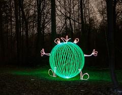 King of frogs. (Nikolas Fotos) Tags: longexposure lightpainting orb sphere lichtmalerei lightart longexposurephotography llightpainting lightpaintingphotography peintureclaire