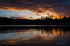 Reflections of Perfections (Darvin Atkeson) Tags: california light sunset lake snow mountains reflection water rain forest glow bass nevada sierra pines shore oakhurst elnino darvin atkeson darv lynneal yosemitelandscapescom