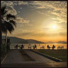 Restaurant on the seafront (VillaRhapsody) Tags: sunset sun dusk silhouette fethiye evening sea silhouettes people turkey mediterranean golden challengeyouwinner