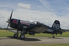 Taxiing 2, Chance Vought F4U-4 Corsair, OE-EAS, Flying Legends, 2016 (Peter Cook UK) Tags: show red flying air 4 bull airshow legends duxford corsair chance 2016 f4u f4u4 vought oeeas