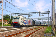 186 444 Rail Traction Company / Lokomotion (equo25) Tags: treno merci ferrovia locomotiva bombardier traxx zebra zebrata rtc rail traction company lokomotion tramogge cereali vtg railway locomotive grains hopper wagons freight train stazione bahnhof eisenbahn lok ellok zug guterzug getreidesilowagen silowagen selbstentladewagen