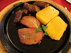 2015-040238 (bubbahop) Tags: food dinner restaurant casa citadel medieval pork romania sighisoara sausages grilled polenta krauss fortified 2015 sighioara georgius europetrip32