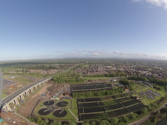 Port Salford 4th May 2015 (North Ports) Tags: bridge port manchester canal ship lift aerial link works barton peel uav trafford salford quays msc m60 enabling gopro