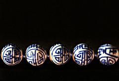 Five (PhotosbyDi) Tags: stilllife beads 5 five jewelry jewellery blueandwhite bluebeads nikond600 035100 macromondays tamonf2890mmmacrolens
