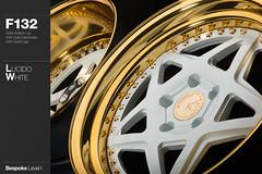 f132-lucido-white (AG Wheels) Tags: white wheel gold star five wheels profile barrel inner step finish lip outer custom standard rim rims function avant garde forged finishing lucido bullion bespoke 24k forging plated f132 agwheels agfunction