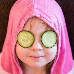 She wanted cucumbers (TeppoTK) Tags: cute cucumbers kurkku