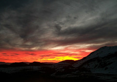 Valle Nevado - Chile (IG: @maira.carvalho) Tags: chile santiago sunset pordosol orange sun mountain ski cold sol southamerica laranja gray neve nublado frio montanha ch cordilheira americadosul valenevado