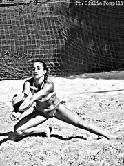 PicsArt_05-30-11.51.20 (giuliapompili) Tags: blackandwhite woman beach girl sand volleyball beachvolley bagher