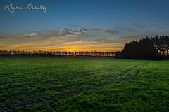 Sunset on the farm (Miss Basil85) Tags: winter sunset newzealand sky nature field grass landscape nikon farm farming nz northisland hdr highdynamicrange paddock manawatu d3200