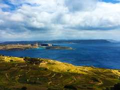 Land. (Fabio Scalvinoni.) Tags: blue sea summer cloud verde green water beautiful landscape island spring waves remember cloudy small wave bluesky malta land april belvedere
