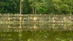 The Terrrace of Elephants (Kelly Rene) Tags: travel elephant color green architecture flooding cambodge cambodia southeastasia day afternoon kh siemreap battambang indochina angkorthom krongsiemreap theterraceofelephants