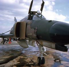 Close up of USAF F-4E at Mildenhall in 1972 (EdWalton) Tags: uk suffolk phantom usaf f4 mcdonnell mcdonnelldouglas f4e mildenhall rafmildenhall usafe
