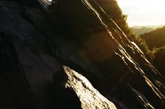 (klolam) Tags: lighting travel light shadow sun mountain film nature sunrise 35mm outdoors iso200 pentax kodak taiwan hike flare pentaxmesuper hehuanshan colorplus kodakcolorplus