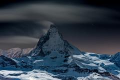 Starfall (Marshall Ward) Tags: snow night clouds stars landscape switzerland nightshot nighttime zermatt matterhorn startrails thematterhorn 2013 nikond800 afsnikkor70200mmf28gedvrii marshallward