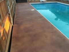 Pool Deck Trowel Texture & Stain (Decorative Concrete Kingdom) Tags: brown texture stain pool deck smiths