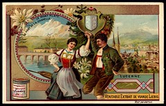 Liebig Tradecard S584 - Lucerne (cigcardpix) Tags: tradecards advertising ephemera vintage liebig chromo switzerland