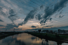 160626_152_5D3_2180 (oda.shinsuke) Tags: sunsetcloud vsco river reflection