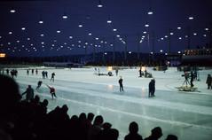 World Sprint Speed Skating Championships 1972 (Linus Wrn) Tags: nightphotography people ice sports lights audience iceskating icerink worldchampionships sprintspeedskating