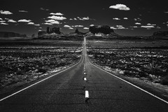 The road to the West (Eduard Moldoveanu Photography) Tags: america canyon desert huntsmesa lrthefader monumentvalley national nationalparks navajo park road sand sunset usa utah arizona asphalt bw beauty black blackwhite blackandwhite butte cloud clouds desertbeauty destination distant formation geologic highway iconic indian land landmark landscape light majestic mesa mittens monument morning mountain nation native natural nature ontheroad outdoor outdoors panorama picturesque reservation rock route sandstone scenic sky southwest stone tourism travel tribal vacation valley view west western wild