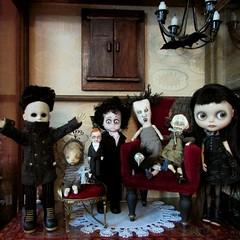 Family Photo (SJB Dolls) Tags: art doll ooak haunted spooky blythe livingdeaddoll sandymastroni linamacijauskiene cheekiebottom