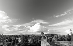 panorama in monocrome (lichtauf35) Tags: panorama clouds skyscape landscape lights cityscape shadows sl1 lightroom monocrome acdsee 100d mhlhausenthringen lichtauf35