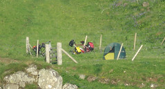 View of the tent from the coast (Rodents rule) Tags: scotland highlands tent campsite eigg eiggorganics