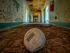Down Court (Entropic Remnants) Tags: pictures abandoned photography photo fuji image photos pics picture pic images photographs photograph fujifilm exploration asylum f4 remnants urbex statehospital entropic xt1 embreeville 1024mm embersville