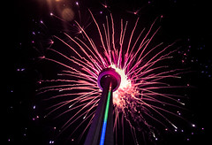 Today is the CN Tower's 40th Anniversary (A Great Capture) Tags: birthday city summer urban toronto ontario canada building tower skyline night dark 40th lights downtown photographer cntower fireworks anniversary canadian celebration nighttime national happybirthday summertime iconic canadas tallest on agc 2016 40thanniversary ald torontonians panamgames ash2276 adjm canadas ashleylduffus wwwagreatcapturecom agreatcapture mobilejay mycntower