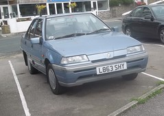 Proton 1.5GL #1 (occama) Tags: old uk blue car cornwall 1993 malaysian mitsubishi proton 15gl l863shy