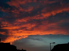Fiery Sky Silhouette (Climate_Stillz) Tags: sunset london silhouette evening rooftops fierce dramatic orangesky pinksky dramaticsky southlondon fiery pinkclouds fierysky orangeclouds eveningshot sunsetcolours colouredsky colourburst colouredclouds nexus5