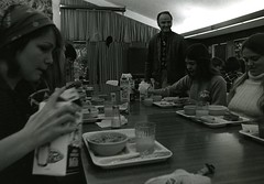 Eating in the Albion cafeteria (A) (PUC Special Collections) Tags: california coastal mendocino 1960s norcal 1970s biology tidepools puc albion estuaries mendocinocounty pacificunioncollege albionfieldstation albionbiologicalfieldstation pucbiologydepartment