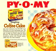 Woman's Day-Mar 1954 (File Photo Digital Archive) Tags: coffee breakfast vintage advertising frozen 1954 blueberry 1950s advert 50s pyomy