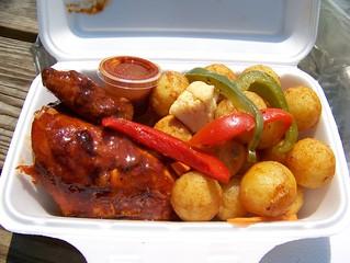 Chicken churrasco, roasted potatoes
