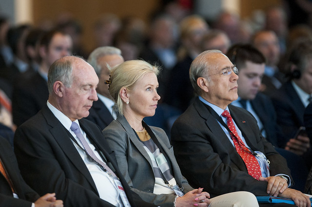 Warren Truss, Anna Johansson and Angel Gurría attending