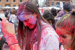 Red and blue girl (Curufinwe - David B.) Tags: india holiday france color colour colors girl festival square happy colours place happiness powder celebration event capitol toulouse hindu hinduism holi capitole a77 hautegaronne midipyrnes 1650 placeducapitole a77v sonyalpha77 sony165028ssm sonydslta77v