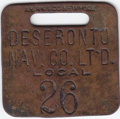 2015.17 (Deseronto Archives) Tags: objects luggagetags 1890s deserontonavigationcompany