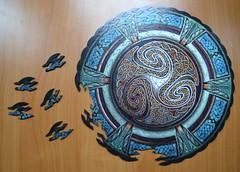 Triskelion (JuliaC2006) Tags: pattern wentworth jigsaw celtic triskelion 52in20152intertwined