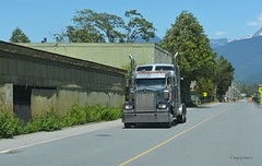 'Truckin' (Images by Christie  Happy Clicks for) Tags: street canada wheel truck nikon bc cab semi fave chrome rig squamish semitruck sleeper stacks kenworth semitrailer 5thwheel