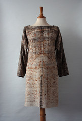 (red2white) Tags: uk scotland pattern dress handmade silk organic eco printed red2white