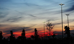 LOOk AT THE VIEw ! (rumuzlu) Tags: trees light sunset red sun tree beautiful weather lights nice view bright awesome manzara gnbatm gne krmz sunsetview