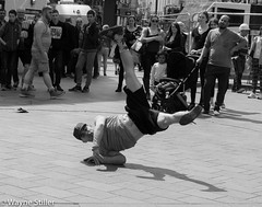 spin me round (Wayne Stiller) Tags: street people london dance day spin cap electro acrobat shoulder interest acrobatic skill