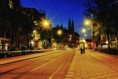 Night streets of Amsterdam. (rededia) Tags: city urban streets colors night cityscape fuji fujifilm streetview x100 x100t