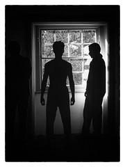 Silhouettes (mdalmuld) Tags: bw window silhouette backlight sydney silhouettes australia olympus omd em10 hydeparkbarracks